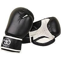 Fitness-Mad BSPARP06BW Guantes de Boxeo, Unisex niños, Negro/Blanco, 6 oz