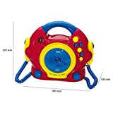 Kinder Spiel Zimmer Karaoke Anlage Sing a long CD Player + 2 Mikrofone AEG CDK 4229 bunt - 5
