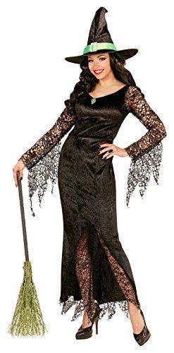 Kostüme Edelstein Fee (Widmann 06502 - Erwachsenenkostüm Hexe, Kleid mit Edelstein und Hut, Größe M,)