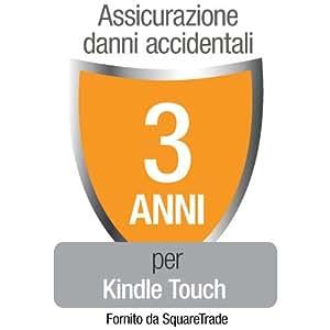 Assicurazione di Squaretrade contro Danni Accidentali e Guasti Meccanici/Elettrici per Kindle Touch (Wi-Fi) solo per clienti residenti in Italia