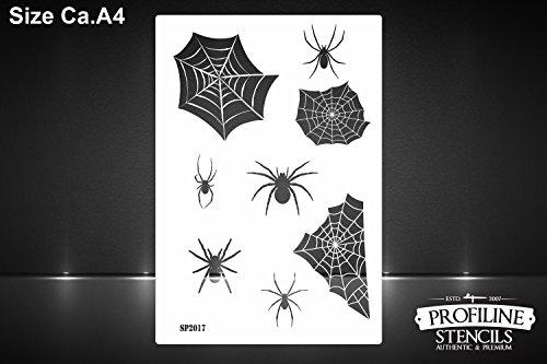 Spinnen & Spinnennetz Airbrush Schablone Horror Halloween Spider Web Stencil (Spider Web-einsätzen)