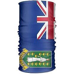 Flag Of The British Virgin Islands Unisex Outdoor Sport Scarf Headbands Bandana Mask Neck Gaiter Head Wrap Sweatband Headwear