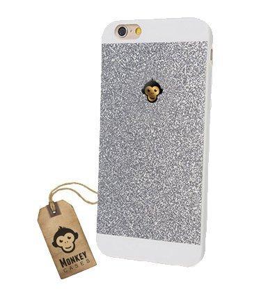 Monkey Cases® iPhone 4 / 4s - Premium Glitzer Monkey Edition - Handyhülle - Original (Pink) Silber