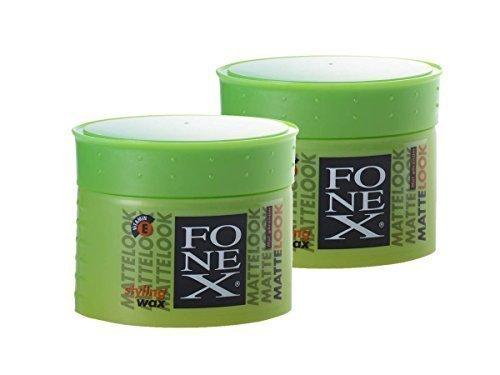 2 x FONEX Matte-Look Haarwachs 100g ✓ Bestseller ✓ Extremer Halt ✓ Kein Verkleben | Professional Hair-Wax für Matte-Look-Effekt | Wachs-Gel, Hair-Styling für Männer mit Surfer Style | Haar-Wax für starken Halt widerspenstiger Haare