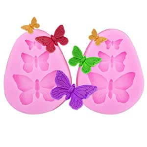 2x Butterfly Shaped Silicone Mould