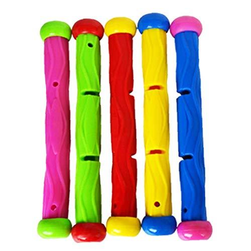 Aisoway 5 Stück Multicolor Tauchen Pool Spielzeug Unterwasser Spiele Ausbildung Tauchen Sticks -