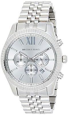 Michael Kors Lexington Plateada de los Hombres del Reloj