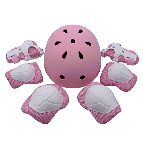 MANYYSI Kinder Inline Skates Kinder Skateboard Roller Skating Schlittschuhe Triple Pad Set Knieschützer Ellenbogenschützer Handgelenk Outdoor Sports Pad Set