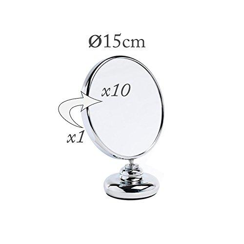 Miroir Grossissant x10 Double Face Diam