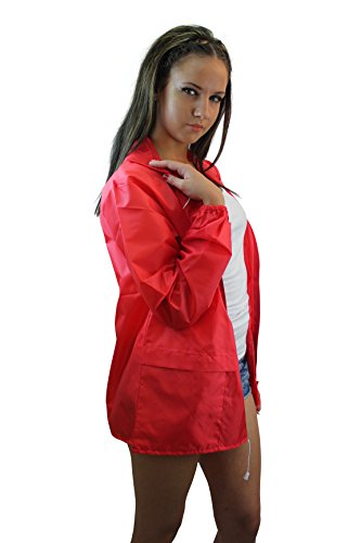Girl Talk Ladies Light Weight Hooded Shower Proof Festival Mac Rain Coat