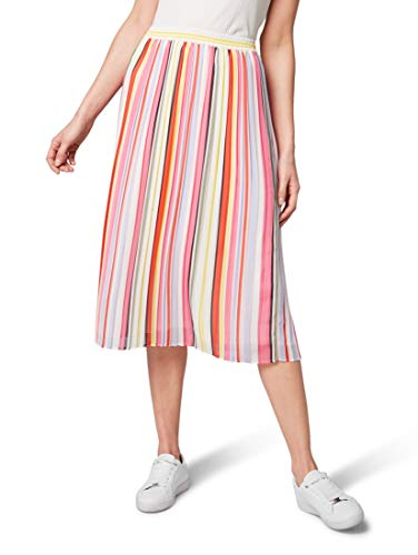 TOM TAILOR für Frauen Röcke Plissée-Rock Multicolor Stripe Vertical, 40