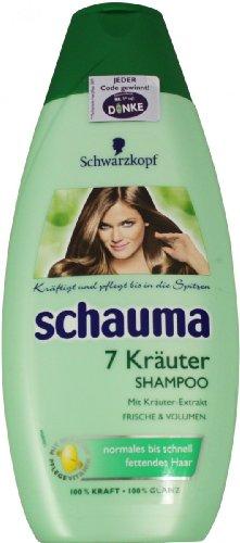 Schauma Shampoo 7 Kräuter, 1er Pack (1 x 400 ml)