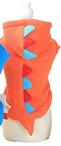 Fancy Me Haustier Junge Mädchen Hund Katze Dinosaurier Drache Halloween Warm Kostüm Kleid Kostüm Outfit Mode Bekleidung Kleidung XS-XL - Rot, Large