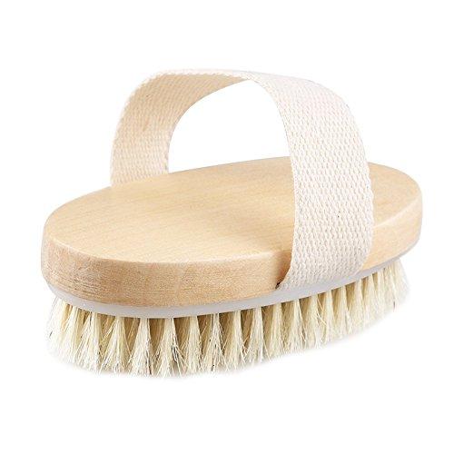 Bad Seidig-weiche Haut Glatter (Tofree Professionelle trockene Haut Bürste natürliche Körperborsten Spa Bad Massagegerät Feste Peeling)