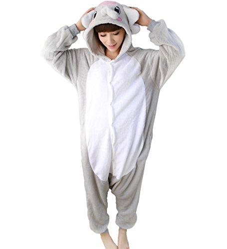 achsene Halloween Kigurumi Pyjamas Tier Onesie Grey Elephant M (Ziel Baby Halloween-kostüme)