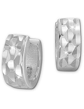SilberDream Creole Ohrring diamantiert 11mm 925 Sterling Silber Damen SDO393J