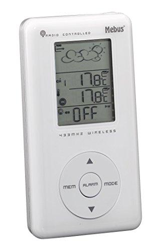 Mebus Funkwetterstation mit Wetterprognose, kabellos, weiß