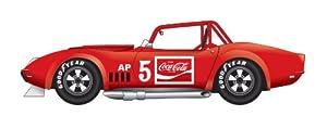 Dickie de Dickie-Schuco 413311028-True Scale-Chevrolet corv.# 5de 1967de 1: 43Corvette L 88, Resin, Rojo