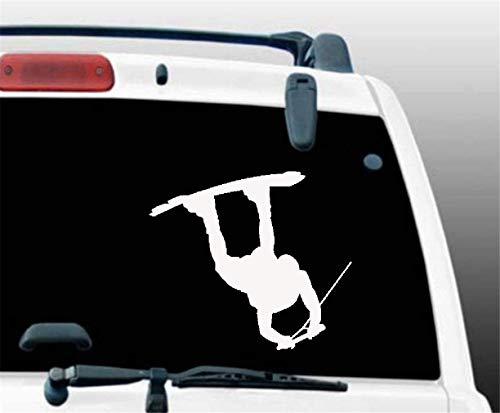 Autocollant de voiture Wakeboard Silhouette Vinyle Autocollant Décalque Wakeboarding Wakeboarder 12.8X10Cm