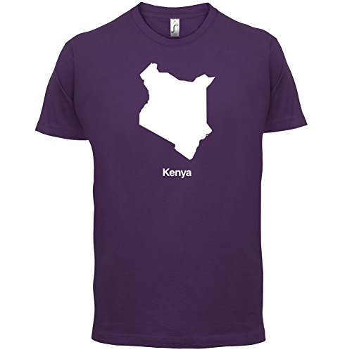 Kenya / Kenia Silhouette - Herren T-Shirt - 13 Farben Lila