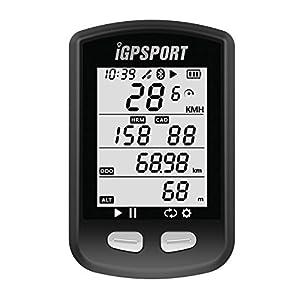 iGPSPORT iGS10 (versión española) - Ciclo computador GPS bicicleta ciclismo.Cuantificador grabación datos y rutas.Pantalla anti- reflejos,gran contraste.Conexión Sensores ANT+/2.4G. Bluetooth.IPX6
