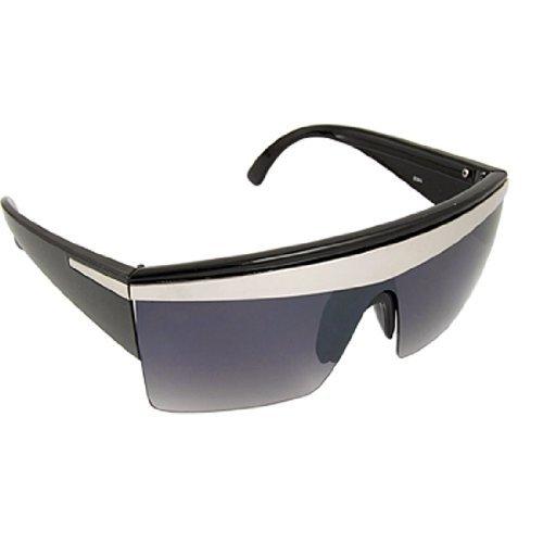Schwarzer Breit Arm Rechteck Objektiv halb Rand Sonnenbrillen für Damen