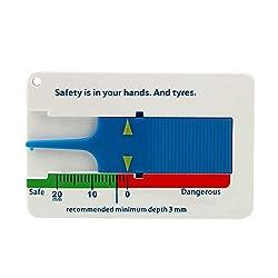 iTimo 0-20 mm Tiefe Meter Vernier Tiefenmessschieber Reifen Profiltiefenmesser Reifen Maßstab Motorrad Caravan Trailer Rad Measure Tool
