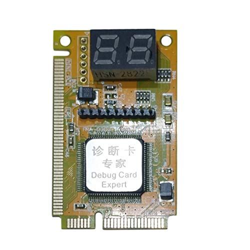 Wenwenzui Plastic/Metal 5 x 3 x 1 cm 3 in 1 Mini PCI-E LPC PC Analyzer Tester Post Card Test Green