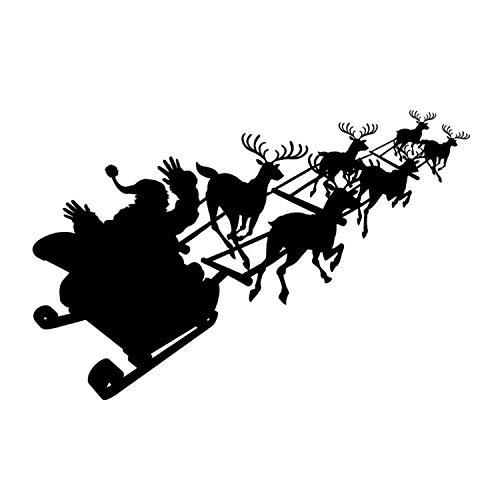 ann Fliegen Schlitten Wandaufkleber Kinder Schlafzimmer Weihnachten Dekorative Vinyl Wandtattoo ()