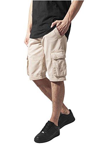 Urban Classics Fitted Cargo Shorts, Pantaloncini Uomo, Beige (Beige 3), S