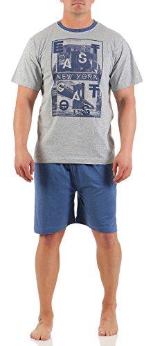 5 verschiedene kurze Pyjamas oben auswählbar Herren Shorty Schlafanzug Rund  & V-Ausschnitt in verschiedenen Modellen wählbar kurze Hose Grösse M L ...