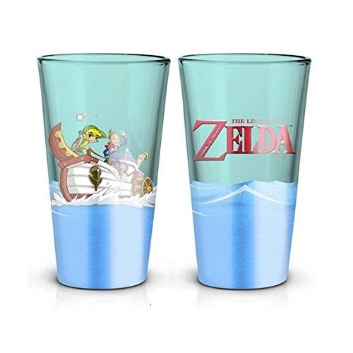 Preisvergleich Produktbild Zelda - Wind Waker - Glas - Füllmenge 500 ml / Offizielles Merchandise von Nintendo