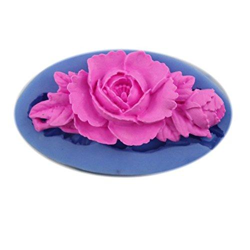 Trendy 3D Resin Blume geformt Schokoladenform Food Grade Plastic Subigkeit Ice Seife Fondant Kuchen Form Zufallige Farbe (3d-food)