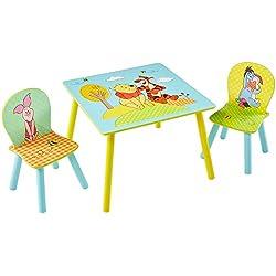 Winnie the Pooh 527WIE - Conjunto de mesa y dos sillas