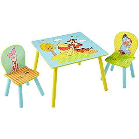 Disney Winnie The Pooh Kids Table and 2 Chair Set