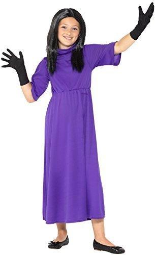 Mädchen Offiziell Kopf Hexe Roald Dahl Hexen Welttag des buches-tage-woche Halloween gruslige Kostüm Kleid Outfit - 7-9 - Halloween Kinder-buch-charaktere Kostüme