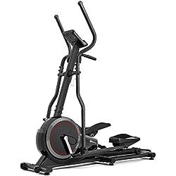 Vélo elliptique HS-070C BUZZ gris/ noir de Hop-Sport avec mesure de pouls, masse d'inertie de 18 kg, Capacité de charge jusqu'à 150 kg