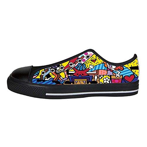 Dalliy Romero Britto Men's Canvas shoes Schuhe Lace-up High-top Sneakers Segeltuchschuhe Leinwand-Schuh-Turnschuhe A