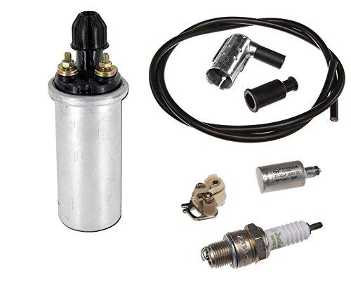 7 teiliges Zündung Set 6V mit Zündspule Kondensator für Simson Schwalbe, Star, DUO, S50 S51 No. 2