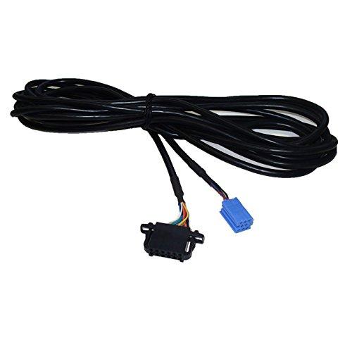 CD Wechslerkabel für Audi Seat Skoda VW (5 Meter, Mini ISO 8Pin > 12Pin Stecker) Adapterkabel, Wechslerkabel, Anschlusskabel, Steuerkabel, CD Wechsler Adapter, CD Kabel Vw Mini
