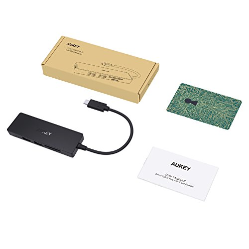 41pBTlm K5L - [amazon] AUKEY USB-C Hub mit USB 3.0 SD und Micro SD Kartenslots für nur 13,99€ statt 18,99€ *PRIME*
