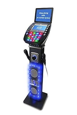 Easy Karaoke EKS878BT Bluetooth System with Speaker Pedestal and Disc Set
