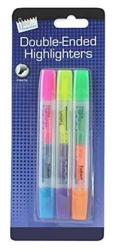 just-stationery-lot-de-3-surligneurs-double-pointe-couleurs-assorties