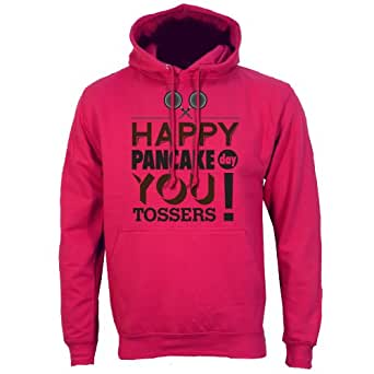 "Dark Pink Small (Mens 36"" - 38"") Happy Pancake Day You Tossers Mens Hoodie"