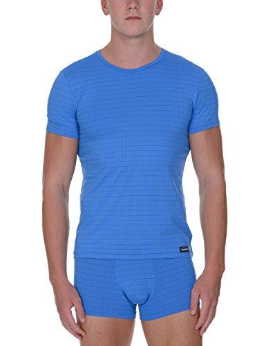 bruno banani Herren Unterhemd Shirt Check Line, Blau (Blau Karo 2249), Large (Line-check)