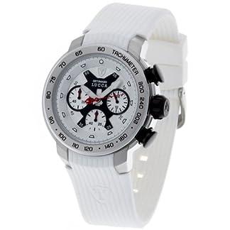 DeTomaso Lucca Dt1017 – Reloj de Caballero de Cuarzo, Correa de Silicona Color Blanco