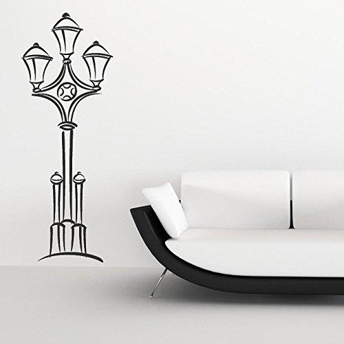 azutura Klassische Lampe Post Englische Straße Großbritannien Wandsticker Heim Kunstabziehbilder verfügbar in 5 Größen und 25 Farben Groß Licht Orange (4-licht-post Klassische)