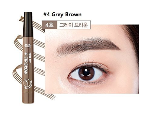 Etude House Tint My 4 Tip Brow (2g) 2017 New eye brow (#4 Grey Brown) -