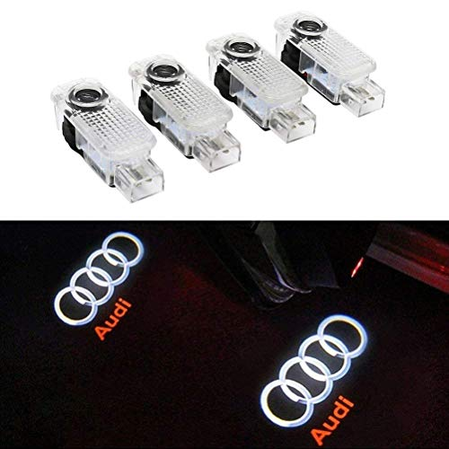 4 PCS Éclairage de Porte LED 3D ...