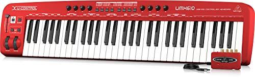 Behringer U-Control UMX610 61-Tasten USB/MIDI Controller Keyboard inkl. Behringer UCA222 Audio Interface